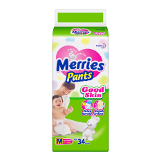 Merries Popok Pants Good Skin M 34 Merries Diskon