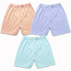 Beli Miabelle Baby Short Pants Orange Biru Tosca 3 Buah Nyicil