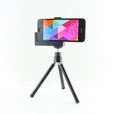 Mini Adjustable Tripod + Pemegang Kamera untuk IPhone dan Ponsel Lainnya