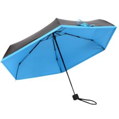 Mini Cute Travel Anti Uv Sun Protection Umbrella Blue Murah