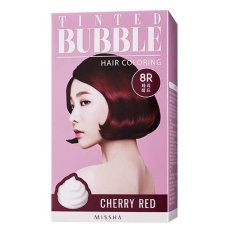 Ulasan Lengkap Missha Tinted Bubble Hair Coloring 8R Cherry Red