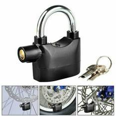 MJG Alarm Padlock Anti Maling Gembok - Black