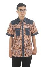 Model Baju Batik Pria Cap Asli Jambi  Berkualistas - Zallatra - Coklat + Gratis Canting