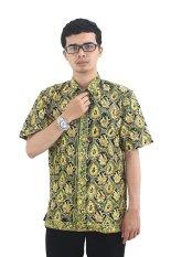 Model Baju Batik Pria Cap Asli Jambi Berkualistas - Zallatra - Hijau + Gratis Canting