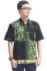 Model Baju Batik Pria Cap Asli Jambi Berkualistas - Zallatra - Hitam + Gratis Canting