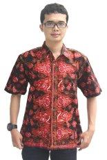 Model Baju Batik Pria Cap Asli Jambi Berkualistas - Zallatra - Merah+Hitam + Gratis Canting