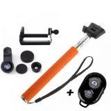 Spesifikasi Monopod Self Portraits Orange Ashutb Shutter Lens Clip Fisheye 3In1 Black Lengkap Dengan Harga