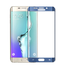 Toko Moonmini Tempered Glass Screen Protector Guard For Samsung Galaxy S6 Edge Plus Blue Online