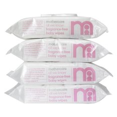 Toko Mothercare All We Know Fragrance Baby Wipes 4 X 72 Wipes Termurah