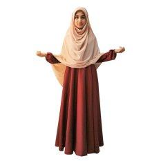 Mouca Ayra Pakaian Muslimah Maroon Asli