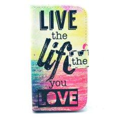MULBA Galaxy Avant Case, G386 Case, [Kickstand Flip Case] GALAXY Avant G386 [Slot Kartu Uang] Live The Life Premium Soft TPU Kulit Sintetis Flip Cover-Dompet Case untuk Samsung Galaxy Avant G386T, samsung GALAXY CORE LTE 4g G386F