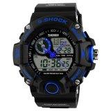 Spek 50 M Tahan Air Tahan Air Olahraga Militer Watch Dengan Kompas Multifuncion Quartz Led Digital Jam Tangan Biru Not Specified