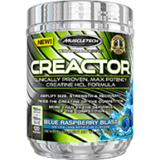 Spesifikasi Muscletech Creactor Blue Raspberry Blast 120 Serving 220 G Baru