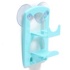 Jamur Alat Cuci Spons Piring Hisap Bak Rak Pemegang Minuman Keranjang Penyimpanan Kotak Dapur-biru