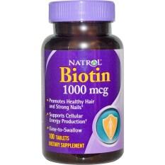 Spesifikasi Natrol Biotin 1000 Mcg 100 Tablets