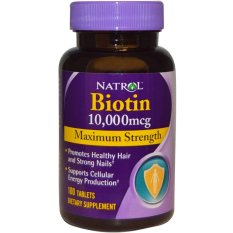 Spesifikasi Natrol Biotin Maximum Strength 10000 Mcg 100 Tabs Lengkap