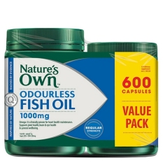 Harga Nature S Own Fish Oil Odourless 600 Capsules Paling Murah