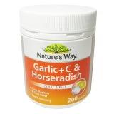 Jual Natures Way Garlic Vitamin C Horseradish 200 Tablet Branded Original