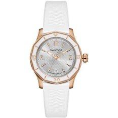 Nautica - Jam Tangan Wanita - Rosegold-Putih - Rubber Putih - NAD13537L