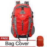 Jual Navy Club Tas Hiking Backpack Tas Ransel Travel Outdoor Carrier 3550 40 Liter Gratis Rain Cover Merah