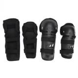 Spesifikasi New Black 4 Pcs Dewasa Youth Knee Elbow Shin Pelindung Guard Pads Kotoran Untuk Sepeda Balap Motor Murah