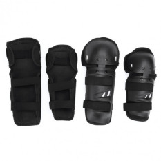 Toko New Black 4 Pcs Dewasa Youth Knee Elbow Shin Pelindung Guard Pads Kotoran Untuk Sepeda Balap Motor Online Terpercaya