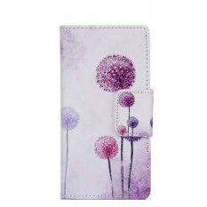 Baru Fashion Indah Bunga Kulit Cover untuk Alcatel One Touch POP C7 7040 7040D OT7040 (Ungu)