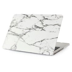 Tekstur Marmer Casing Penutup Laptop untuk MacBook Air 13.3 Cm Apple Laptop (Withe dan Silver 002)