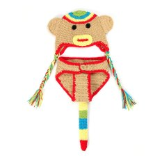 Rp 178.000. Bayi Perempuan Baru Lahir Anak Bentuk Monyet Kaos Kaki Rajut  Topi ... 99f2a64dd3