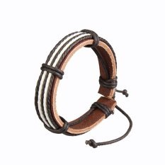 Ulasan Lengkap Nicture Mens Multilayer Pu Leather Bracelet Brown