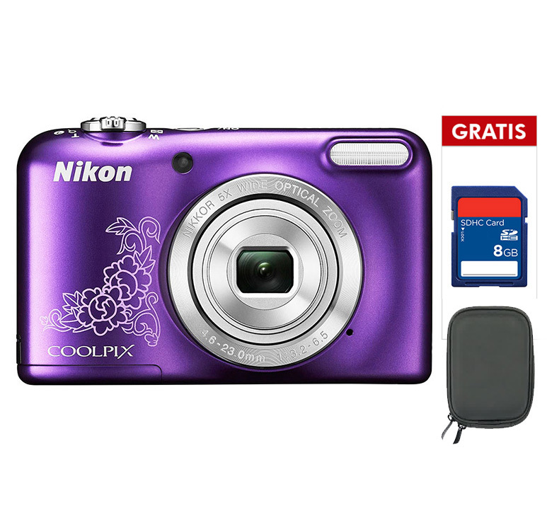 Harga Nikon Coolpix L29 16 1 Mp 5X Optical Zoom Ungu Memory 8Gb Case Nikon Terbaik