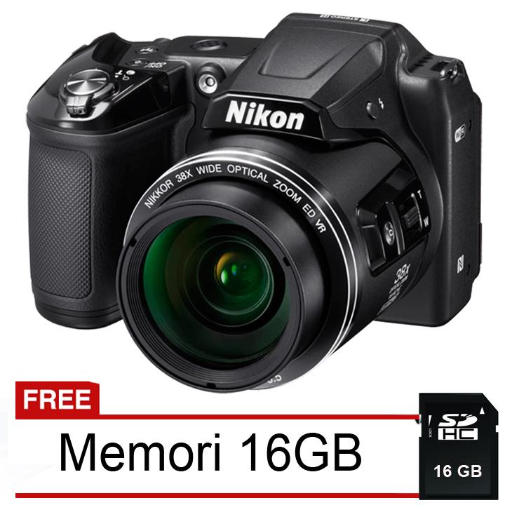 Diskon Nikon Coolpix L840 Wifi Nfc 16 Mp 38X Optical Zoom Hitam Gratis Memori 16 Gb Nikon