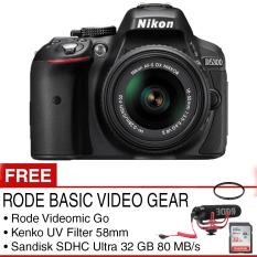 Nikon D5300 Kit AF-P 18-55mm VR - Hitam + RODE Basic Video Gear