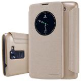 Spesifikasi Nillkin Leather Flip Cover For Lg K8 Emas Yang Bagus Dan Murah