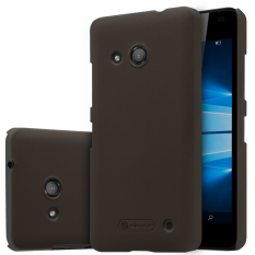 Nillkin Plastic Frosted Shield Case for Microsoft Lumia 550 - Coklat + free screen protector