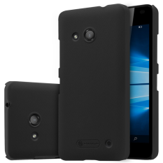 Nillkin Plastic Frosted Shield Case for Microsoft Lumia 550 - Hitam + free screen protector