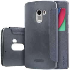 Nillkin Sparkle Series New Leather Case for Lenovo Vibe X3 Lite (K4 Note) - Hitam