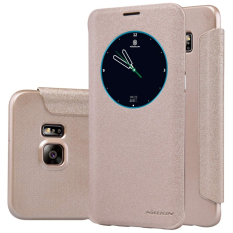 Nillkin Sparkle Series New Leather case for Samsung Galaxy S6 Edge Plus - Emas
