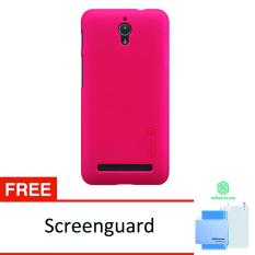 Nillkin Super Frosted Shield Asus Zenfone C (ZC451CG) - Merah + Gratis Anti Gores Clear Nillkin