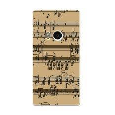Pc Plastik Musik Catatan Staf Case untuk Nokia Lumia 920 Khaki