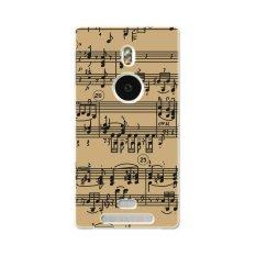 Pc Plastik Musik Catatan Staf Case untuk Nokia Lumia 925 Khaki