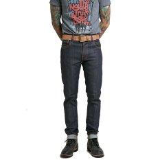 Nudie Jeans Thin Finn Dry Comfort Selvage Biru