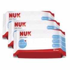 Nuk Baby Wipes 80s Value Pack (3 Packs) By Nuk Indonesia.