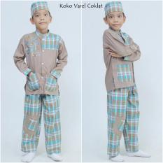 Diskon Besarnuranitex Busana Muslim Baju Koko Varel Setelan Anak Coklat