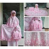 Toko Nuranitex Busana Muslim Mukena Behel Brukat Susun Zahra Antik Pink Termurah