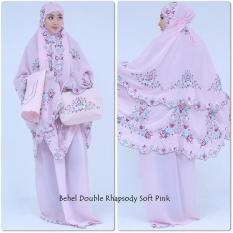 Nuranitex Busana Muslim Mukena Double Susun Bordir Syahrini Mewah Elegan - Soft Pink