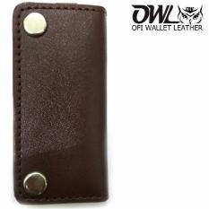 Beli Ofi Wallet Leather Gantungan Kunci Kulit Sapi Coklat Polos Pake Kartu Kredit