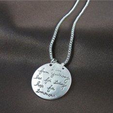 Okdeals Kalung Belajar dari Kemarin, Hidup Hari Ini, Harapan untuk Hari Esok Silver