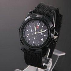 Okdeals Soldier Military Canvas Belt Luminous Quartz Wrist Watch Hitam Okdeals Murah Di Tiongkok