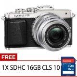 Promo Olympus Pen E Pl7 Mirrorless Kamera Kit Lensa 14 42Mm Ii R Silver Gratis Sdhc 16Gb Cls 10 Olympus